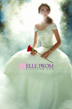 2014 Charming Wedding Dress Strapless A Line With Tulle Skirt Beaded Chapel Train $294.99 EPPDBT9R26 - ElleProm.com
