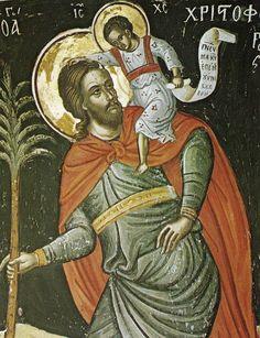 Full of Grace and Truth: St. Christopher the Great Martyr of Lycia Byzantine Icons, Byzantine Art, Catholic Religion, Catholic Saints, Sacred Symbols, Sacred Art, Religious Icons, Religious Art, Christ Is Risen