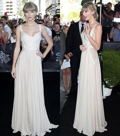 Taylor Swift wows in lace-flowing cream gown at the 2012 ARIA Awards in Sydney