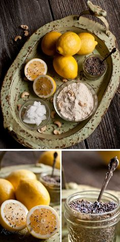 raw lavender and lemon tea cakes.  I need to make these simply because the picture is so amazing!