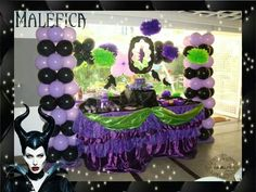 Maleficent party idea /Maleficent decoration / Maléfica decoración fiesta /Maleficent theme party