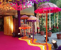 When you're looking for flower decorators in Hyderabad or Wedding Stage Decoration, choose the best professionals. Indian Wedding Theme, Desi Wedding Decor, Wedding Stage Decorations, Wedding Mandap, Wedding Themes, Flower Decorations, Umbrella Decorations, Indian Weddings, Wedding Cake