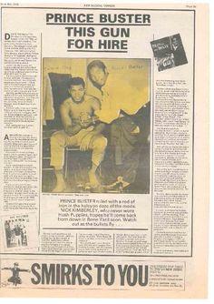 Prince Buster Dub Music, Reggae Music, Jamaica Music, Prince Buster, Al Capone, Rude Boy, Music Magazines, Folk Music, Teenage Years