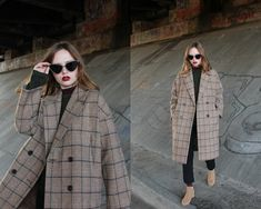 Kristina Magdalina - Metisu Coat - Check Coat