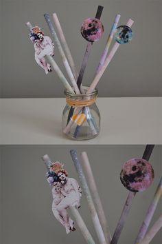 Cosmic love straws for Valentines Day