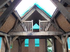 Oak frame with SIPs panels. Roderick James Architects