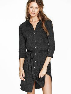 victoria secrets, fashion, cloth, pocket shirtdress, behati prinsloo