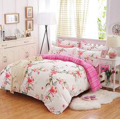 16b0eb22e1 Pássaros   Flores cama conjunto de 2017 flor roupas de cama 4 pçs set 5