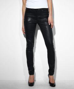 Levi's High Rise Skinny Jeans - High Shine Black - Skinny