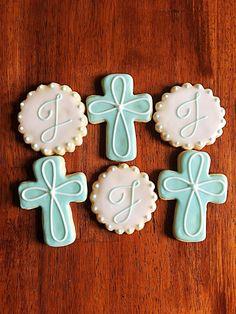 Baptism Cookies - One Dozen - Communion Cookies - Baptism - Confirmation Cookies - Christening Cookies - Religious Cookies - Baptism Party First Communion Party, Communion Cakes, Baptism Party, First Holy Communion, Baptism Food, Catholic Baptism, Baptism Ideas, Royal Icing Cookies, Sugar Cookies