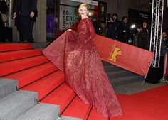 Love & Burgundy! Elizabeth Banks