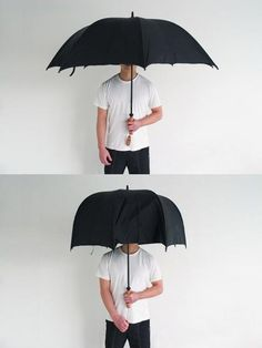 The Polite Umbrella by Joo Youn Paek can morph to change its shape for squeezing past people on the sidewalk. Or to kiss a girlfriend in secret...