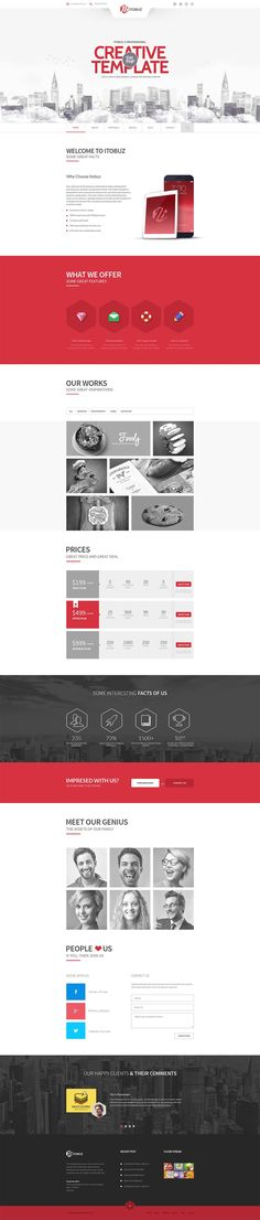 Creative Template - WebDesign www.marinsto.eu #CoolWebsitedesigns