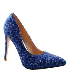 This Lauren Lorraine Royal Blue Sparkle Samantha Pump by Lauren Lorraine is perfect! #zulilyfinds