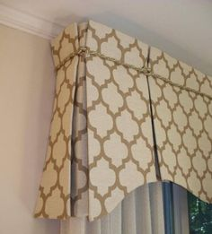 Valance Patterns Design : Custom Window Valance Ideas With Creative Rope Motif Curtains With Blinds, Drapery Designs, Custom Windows, Window Decor, Kitchen Window Treatments, Curtains, Box Pleat Valance, Diy Window, Valance Window Treatments