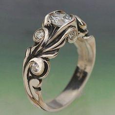 anillo de compromiso barroco