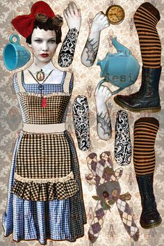 Alice in Steamland Paper Doll Puppet DIY download