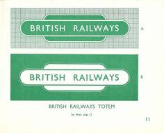 "British Railways - the Railway Executive - Standard Signs Manual, 1948 - ""Totems"" | Flickr - Photo Sharing!"
