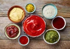Could your favorite sauces and toppings be undoing your health goals? Learn about the ingredients lurking in your condiments, and discover some healthier alternatives for flavoring your foods. Bratwurst, Gourmet Cooking, Cooking Recipes, Sandwiches, Low Carb Diet, Healthy Alternatives, Mayonnaise, Food And Drink, Nutrition