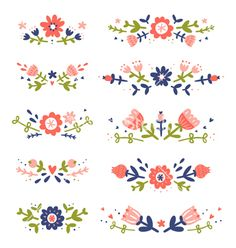 Find Decorative Floral Compositions Collection stock images in HD and millions of other royalty-free stock photos, illustrations and vectors in the Shutterstock collection. Doodle Patterns, Print Patterns, Scandinavian Folk Art, Folk Embroidery, Knitting Kits, Flower Frame, Silkscreen, Illustrations, Pattern Illustration