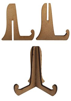 Display your works of art in style with the Creative Expressions Wood Stands 3 Pack. There are 6 pieces included in the package that create 3 stands. Leave the Cardboard Guitar, Cardboard Crafts, Wooden Crafts, Laser Cutter Ideas, Laser Cutter Projects, Plywood Projects, Diy Crafts Hacks, Workshop Organization, Diy Canvas Art