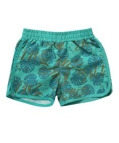 Teal Leaf Ricky Board Shorts - Infant, Toddler & Boys