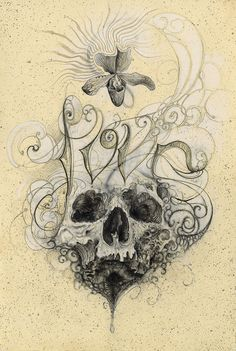 #PrintsForSale #Love #skull #Finished #Orchid #Flowers #Nature @NickChaboya