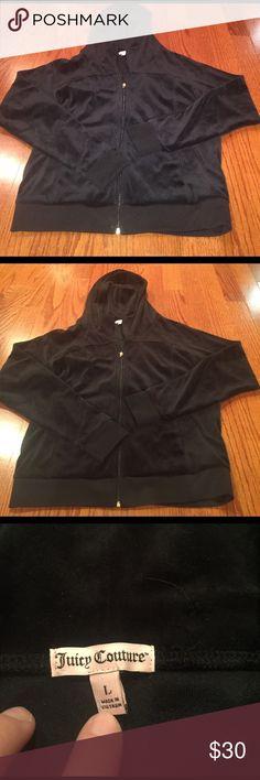 JUICY COUTURE ZIP UP Black plain velvet juicy couture zip up. Great condition Juicy Couture Jackets & Coats