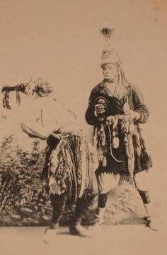 Old Gnawa musician of Morocco.Circa 1900s'.