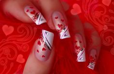 pretty Valentine's Day nails