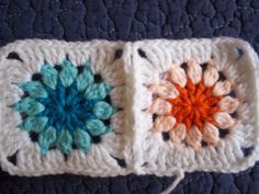 Crochet Mood Blanket 2014:   My Square Pattern