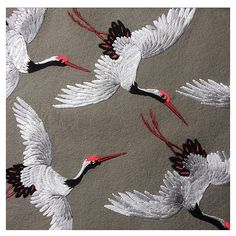 Starting on some new patches next week including some new birds and a few other random ideas - Salvabrani Chinese Embroidery, Silk Ribbon Embroidery, Modern Embroidery, Crewel Embroidery, Hand Embroidery Patterns, Embroidery Thread, Machine Embroidery, Sewing Art, Embroidery Techniques