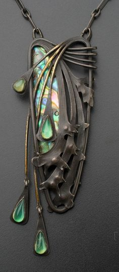 Art Nouveau Jewelry Necklace 3917 – Tuku OKE