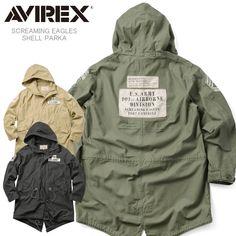 【楽天市場】AVIREX アビレックス 6172152 SCREAMING EAGLES シェルパーカ モッズコート:ミリタリーセレクトショップWIP