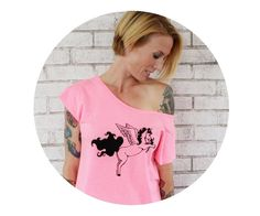 French Terry Unicorn With Wings Dolman Tshirt by CausticThreads
