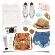 """Pack for Coachella!"" by anchilly23 ❤ liked on Polyvore featuring Oscar de la Renta, Converse, See by Chloé, Oliver Peoples, Mamonde, River Island, Sun Bum, Urban Outfitters and Forever 21"