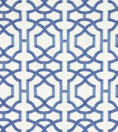 Alston Trellis Embroidery Fabric from Thibaut Monterey Collection. A pure linen fabric embroidered with a interlocking geometric trellis design woven in blue on a white ground. Trellis Wallpaper, Fabric Wallpaper, Pattern Wallpaper, Embroidery Designs, Embroidery Fabric, Blue And White Wallpaper, White Trellis, Trellis Design, Trellis Pattern