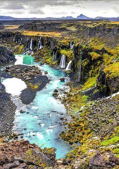 The stunning canyon of  Sigoldugljufur, Iceland.