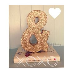 Glitter Ampersand Decor! Sweetheart Table, Office, Photo booth Prop! on Etsy, $18.00