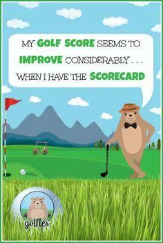 My golf score seems to improve considerably when I have the scorecard! #golf #humor #golftalk #golfcourse #funny #golfing #wisdom #golf #truth #lol
