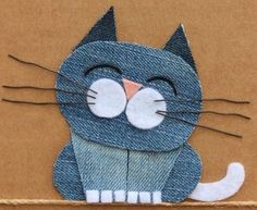Diy Crafts - Little+Birdie+Crafts+-+Denim+Collection+ - maallure Fabric Art, Fabric Crafts, Sewing Crafts, Sewing Projects, Applique Patterns, Applique Designs, Sewing Patterns, Jean Crafts, Denim Crafts