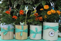 Festa fadas da Disney - Aniversário Thalita Tinkerbell Party, Planter Pots, Kids Part, Plant Pots