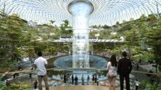 Safdie Architects' Changi Airport Will Host World's Tallest Indoor Waterfall