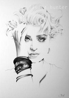 Pencil Portrait Drawing, Portrait Art, Pencil Drawings, Art Drawings, Portraits, Pencil Art, Madonna Art, Pencil Drawing Tutorials, Amazing Drawings