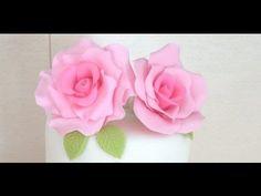 Flores Porcelana fria: Camelias Paso a paso - YouTube