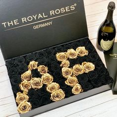 Be patient with yourself. Self-growth is tender; it's holy ground. There's no greater investment. Black Velvet, Lettering, Decorative Boxes, Germany, Beautiful, Champagne, Amazing, Roses, Golden Roses