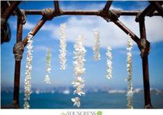 beach ceremony arch with strung orchids Luau Wedding, August Wedding, Wedding Flowers, Dream Wedding, Wedding Ideas, Wedding Stuff, Wedding Ceremony Arch, Beach Ceremony, Arch Decoration