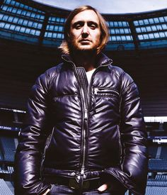 David Guetta in a cool leather jacket