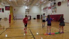 Bench Ball Toss Net Games, Balance Beam, Tossed, Physical Education, Bench, Parties, Fiestas, Physical Education Lessons, Physical Education Activities