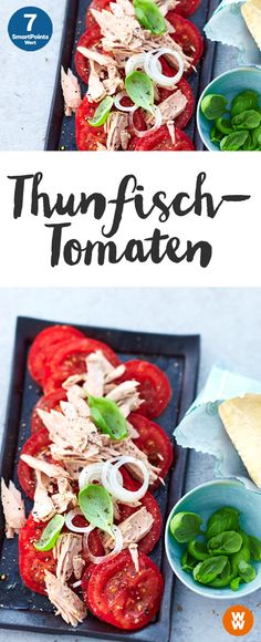 Fast tuna tomatoes - Food and Drinks Ideas Weith Watchers, Fish Recipes, Healthy Recipes, Eat Smart, Nutrition, Summer Recipes, Food Inspiration, Italian Recipes, Clean Eating